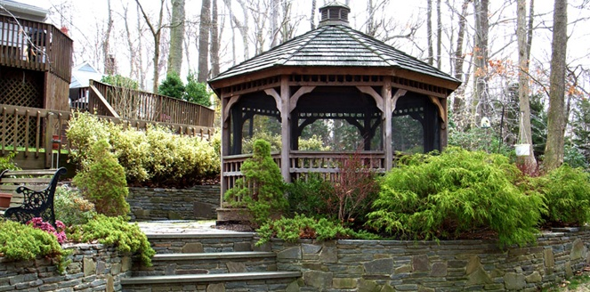 backyard landscape design Northport